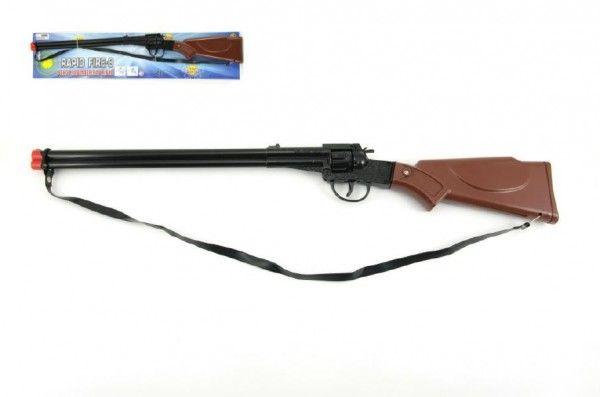 Pistole/Puška kapslovka kov/plast 65cm 8 ran na kartě střelné zbraně Teddies