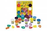 Modelína/Plastelína 10 barev + vykrajovátka v krabici Teddies