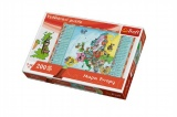 Vzdělávací puzzle mapa Evropy 200 dílků 60x40cm v krabici 33x23x6cm