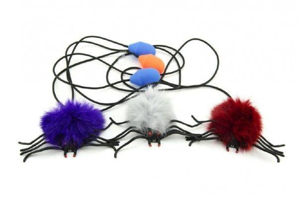Pavouk skákající plyš/plast 7cm asst Teddies