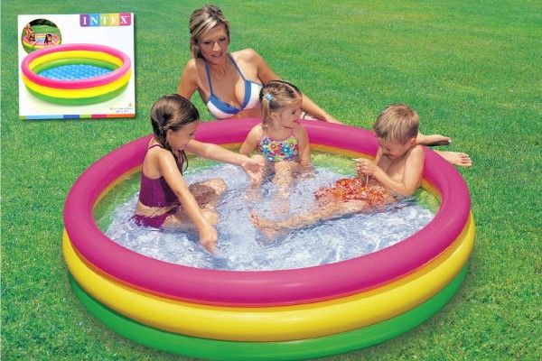 Bazén nafukovací 114x25cm v krabici Teddies