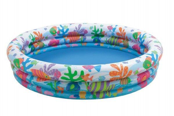 Bazén nafukovací 132x28cm v sáčku Teddies