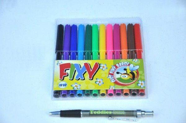 Fixy 12ks v plastové krabičce Wiky