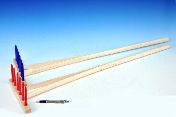 Hrábě dřevo/plast 90cm 6 kolíků asst 3 barvy nářadí