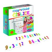 Magnetické číslice na lednici 100 dílků v krabici PEXI