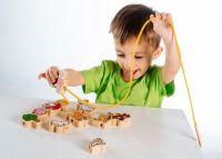Provlékačka dřevěná Moje první zvířátka dřevěná hračka Teddies
