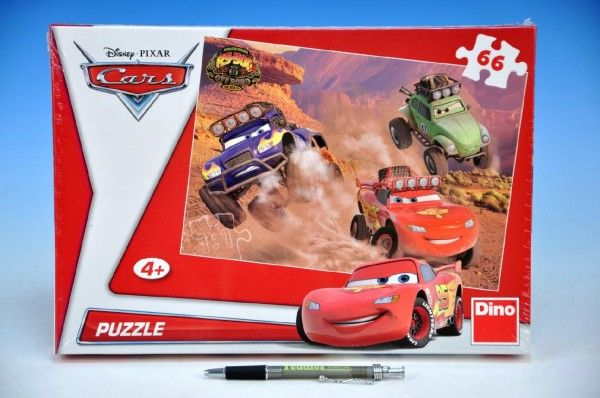 Puzzle Cars 32,3x22cm 66 dílků v krabici 33x23x3,5cm Dino