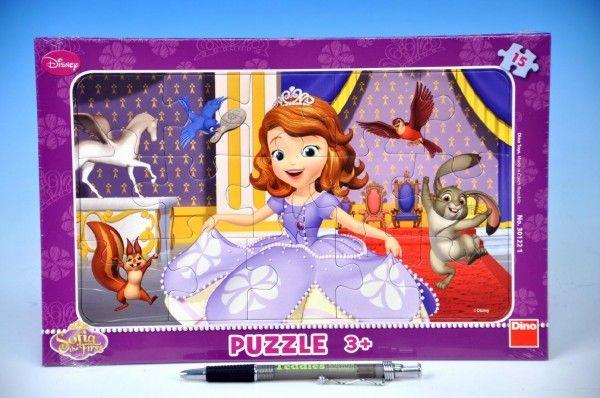 Puzzle deskové Princezna Sofia první 29,5x19cm 15 dílků Dino