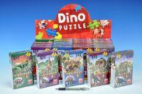 Puzzle Dinosauři 23,5x21,5cm 60 dílků + figurka asst 6 druhů v krabičce 24ks v boxu