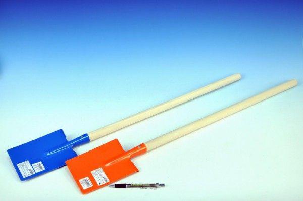Rýč rovný s násadou dřevo/kov 80cm asst 3 barvy nářadí