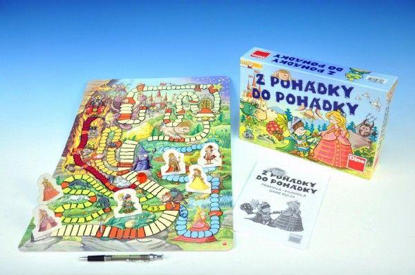Z pohádky do pohádky nová společenská hra v krabici 29,5x20x6cm Dino