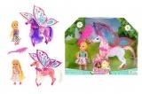 Kůň s křídly a hřebenem 15cm plast asst 3 barvy v krabici