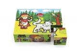 Kostky kubus dřevěné Moje první pohádky 12ks v krabičce 17x12,5x4cm Teddies