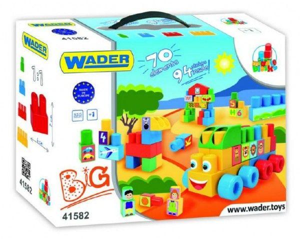Kostky Middle Blocks plast 70ks v krabici 12m+ Wader