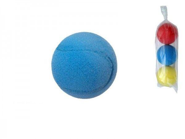 Soft míč na softtenis pěnový průměr 7cm 3ks v sáčku LORI