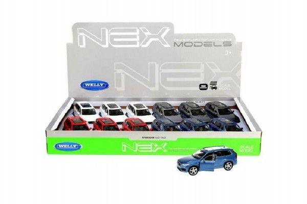 Auto Welly Volvo XC 90 kov 12cm volný chod asst 4 barvy 12ks v boxu Teddies