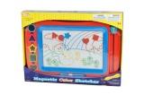 Magnetická tabulka barevná + razítka 5ks plast 43x30cm v krabici Teddies