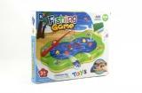 Hra ryby plast společenská hra na baterie - nový druh (možno nalít vodu) v krabici