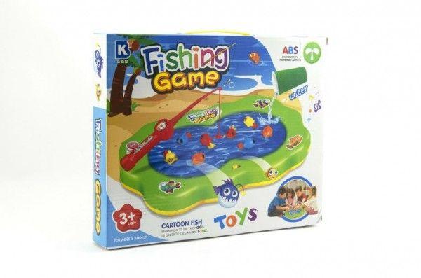Hra ryby plast společenská hra na baterie - nový druh (možno nalít vodu) v krabici Teddies