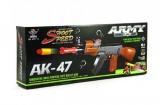 Samopal na pěnové náboje AK47 plast 54cm v krabici