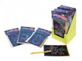 Škrábací obrázek třpytivý 15x10cm 24ks v boxu SMT Creatoys