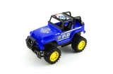 Auto policie terénní plast 22cm na setrvačník asst 2 barvy v krabičce Teddies