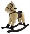 Kůň houpací béžový plyš nosnost 50kg v krabici houpadla houpací koně Teddies