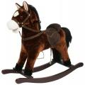 Kůň houpací hnědý plyš nosnost 50kg v krabici Teddies