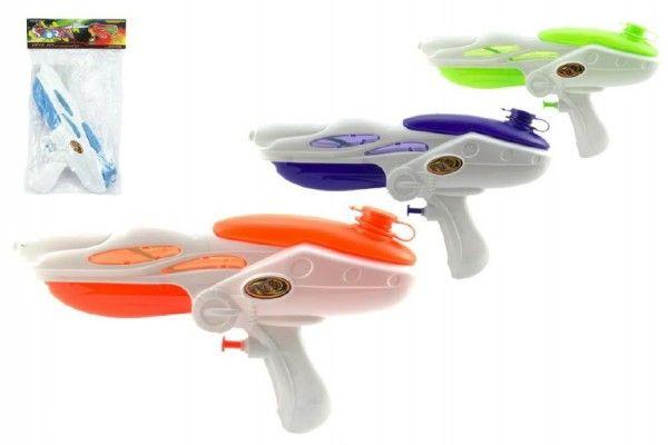 Vodní pistole plast 27cm asst 4 barvy v sáčku Teddies