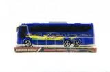 Autobus plast 25cm na setrvačník asst 2 barvy v krabičce Teddies