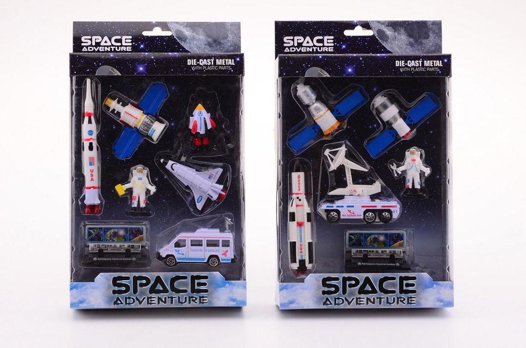 Johntoys Vesmírná stanice hrací sada pro kluky letadla modely