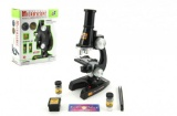 Mikroskop s doplňky plast 21cm na baterie se světlem 8+