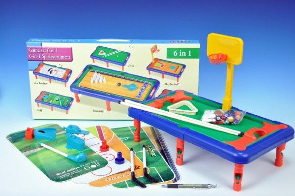 Hra 6v1 sportovní v krabici stolní hra Teddies