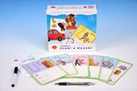 Písmena Psaní a mazání 1 didaktická společenská hra v krabici