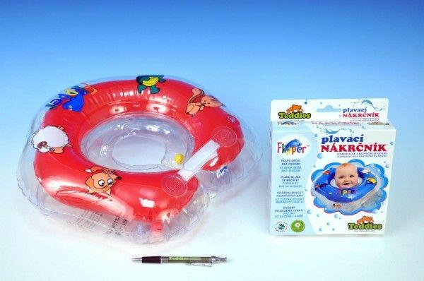 Plavací nákrčník Flipper červený v krabici od 0 měsíců Teddies